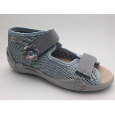 BEFADO 242P081, kapcie dziecięce, FLEXI-B SYSTEM, sandałki, SKÓRA