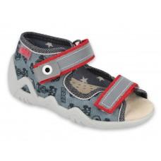 BEFADO sandały chłopięce snake, 350P091 kapcie, skóra wkładka, system Flex - B, wyścigówki