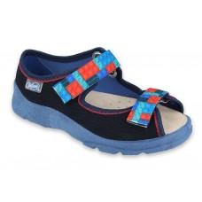 BEFADO 869X140, sandały chłopięce,  kapcie, sandałki, WKŁADKA SKÓRA
