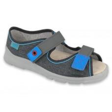 BEFADO 869y139, sandały chłopięce,  kapcie, sandałki, WKŁADKA SKÓRA