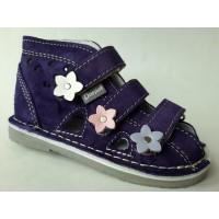 DANIEL kapcie, buty rehabilitacyjno - profilaktyczne dla dzieci - fioletowo - szare