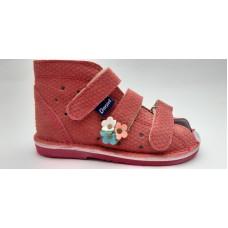 DANIEL kapcie, buty rehabilitacyjno - profilaktyczne dla dzieci - malinowe na malinowej podeszwie