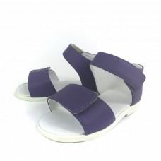SLIPPERS FAMILY, sandały dla dzieci, skóra wkładka, fioletowe