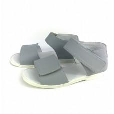 SLIPPERS FAMILY, sandały dla dzieci, skóra wkładka, szare
