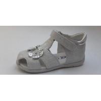 PRIMIGI - Primigi - sandały dla dzieci -5401322- skóra - Memory Foam, srebrne, mieniące